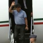 Evo Morales, bajo condición de asilado, llega a México