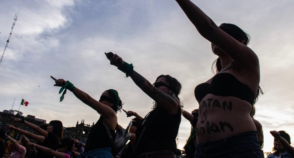 Feministas confían en que el martes sea aprobada la Ley Olimpia en el Congreso - Feministas en el Zócalo