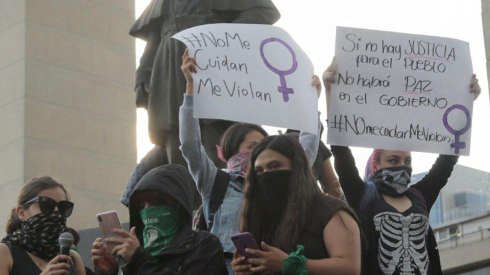 Feministas anuncian marcha al Zócalo; piden evitar presencia de policías - feministas