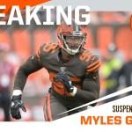 Suspenden indefinidamente a Myles Garrett tras riña con Mason Rudolph