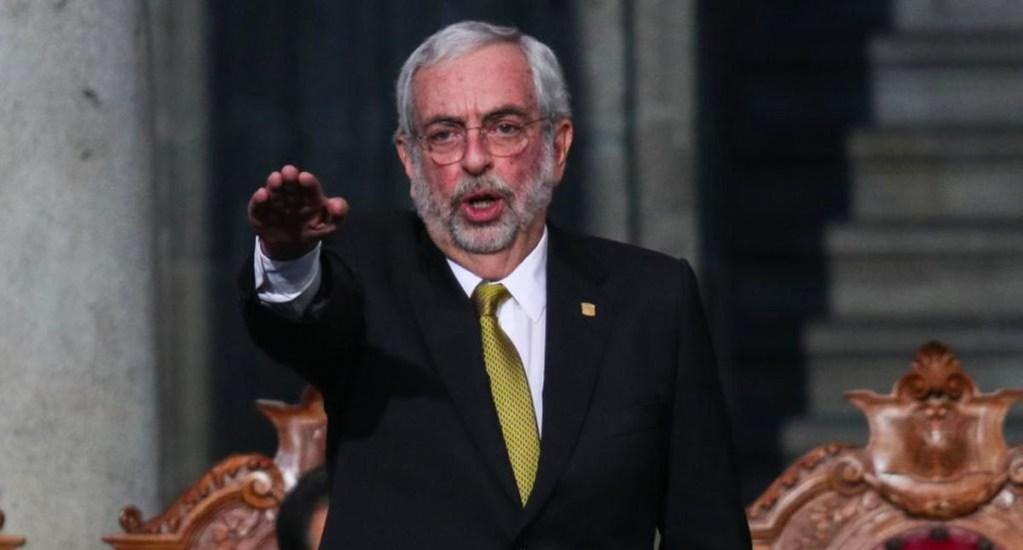 Hay personas que quieren violentar a la UNAM, asevera Graue - Ceremonia de Toma de Protesta del Dr. Enrique Luis Graue Wiechers