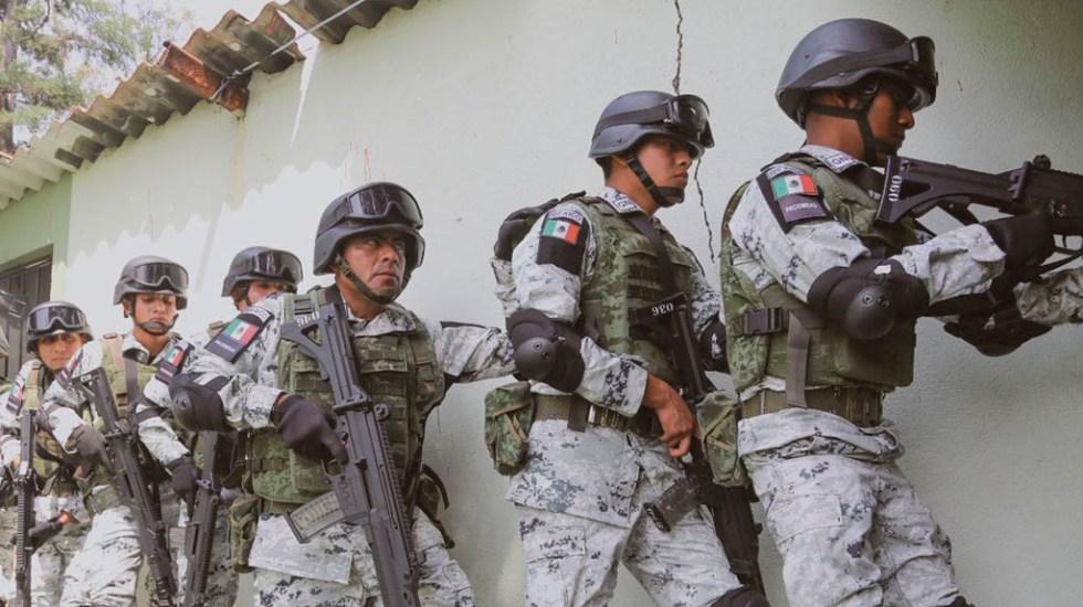Tendencia al alza de homicidios dolosos está contenida, asegura Durazo - Elementos de la Guardia Nacional. Foto de @GN_MEXICO_