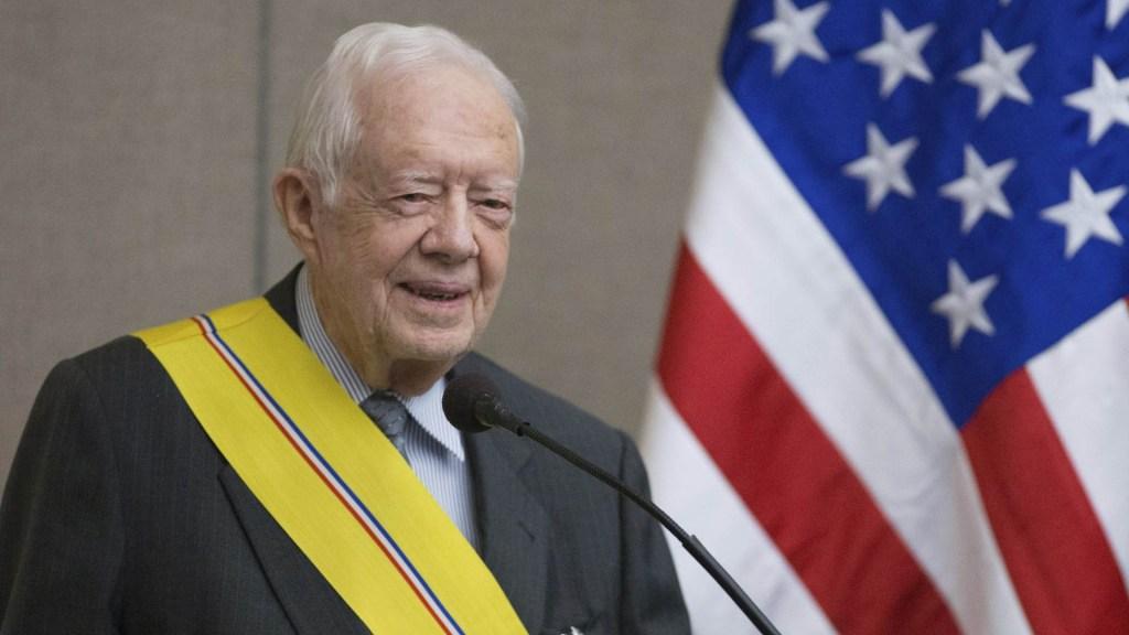 Dan de alta a Jimmy Carter tras cirugía - El expresidente estadounidense, Jimmy Carter. EFE/Branden Camp/Archivo