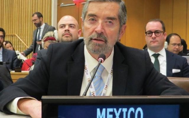 Resolución adoptada por ONU en migración es importante para combatir la xenofobia, asegura De la Fuente - Foto de Misión Permanente de México ante las Naciones Unidas