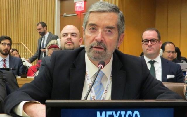 México tiene 'buenas probabilidades' de obtener lugar en Consejo de Seguridad de la ONU, asegura De la Fuente - El Emb. Juan Ramón de la Fuente en la Reunión plenaria de la Tercera Comisión en el 74º periodo de sesiones de la Asamblea General de la ONU. Foto de Misión Mexicana en la ONU.