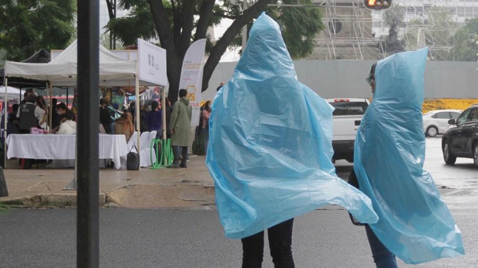 Prevén lluvias y posibles granizadas en CDMX, Chiapas, Edomex, Hidalgo y Oaxaca - Lluvia en la Ciudad de México