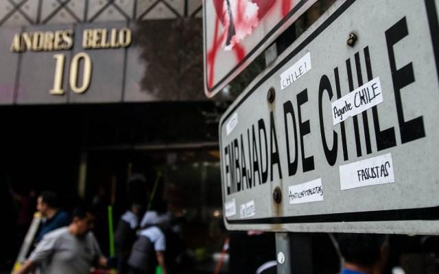 Marchan sobre Reforma en apoyo a Chile - Chile