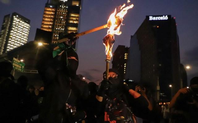 Mayoría de feministas se manifestó pacíficamente, asegura el gobierno capitalino - Marcha feminista Ciudad de México