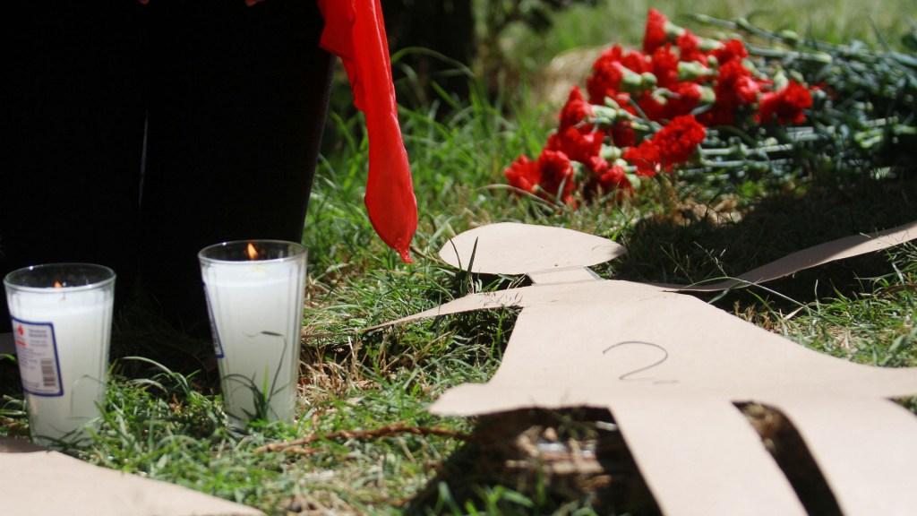 Tiran dentro de costal en Tláhuac el cuerpo de una niña - Caravana, acto de memoria y visibilidad en exigencia de justicia para las víctimas de feminicidio. Foto de Notimex
