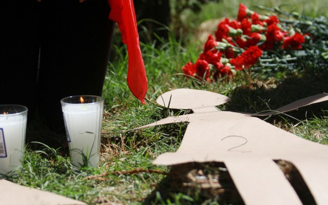 Hallan muerta a mujer en Chimalhuacán; cuerpo llevaba 24 horas en la calle - Caravana, acto de memoria y visibilidad en exigencia de justicia para las víctimas de feminicidio. Foto de Notimex