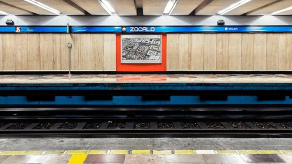 Hombre muere en vías del Metro Zócalo - Metro Zócalo de la Línea 2. Foto de Meganoticias