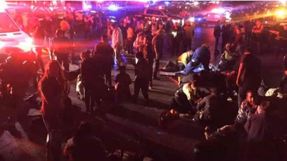 Personas heridas tras volcadura de autobús en Chiapas. Foto de @chiapasdigital1
