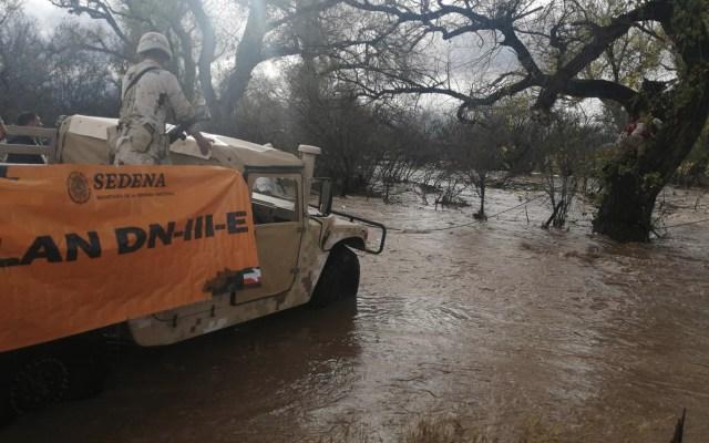 Activan Plan DN-III-E en Durango y Sinaloa por lluvias - Foto de Sedena