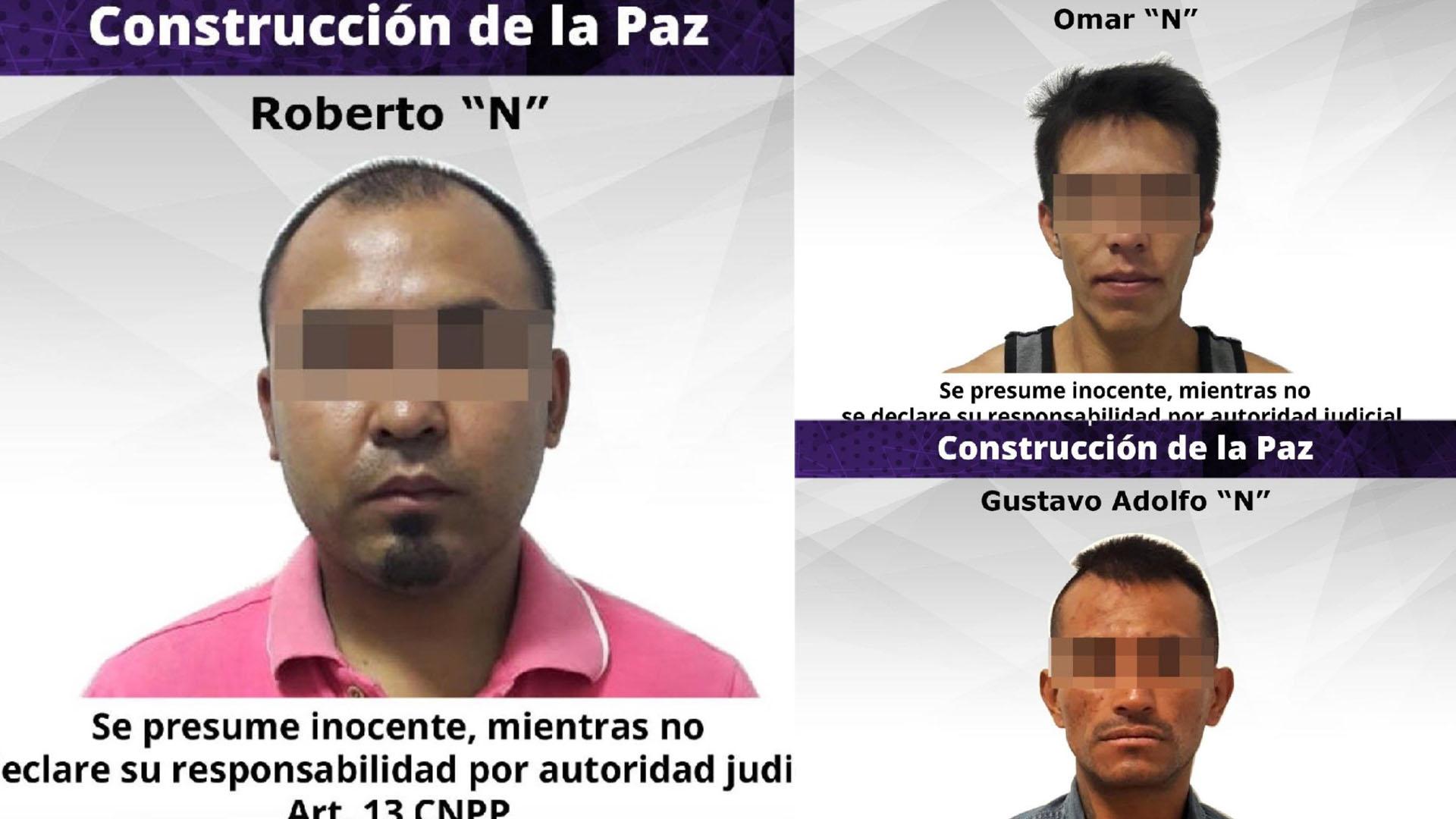 Presuntos implicados en secuestro de exrector de la UAEM y su esposa. Foto de @Fiscalia_Mor / LDD