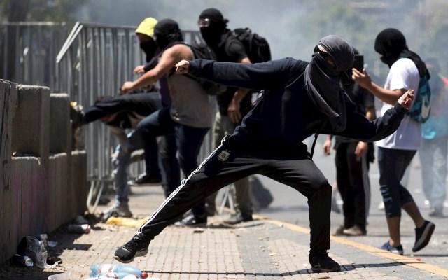 Sube a 22 la cifra de muertos por las protestas en Chile - Las protestas en Chile. Foto de EFE.