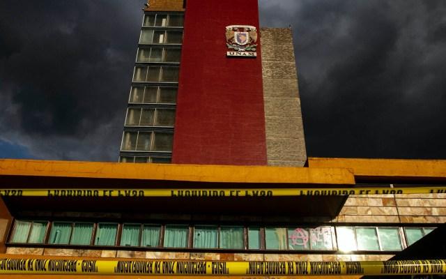 Graue inspecciona Rectoría tras ataque de delincuentes - Rectoría UNAM manifestación daños vandalismo