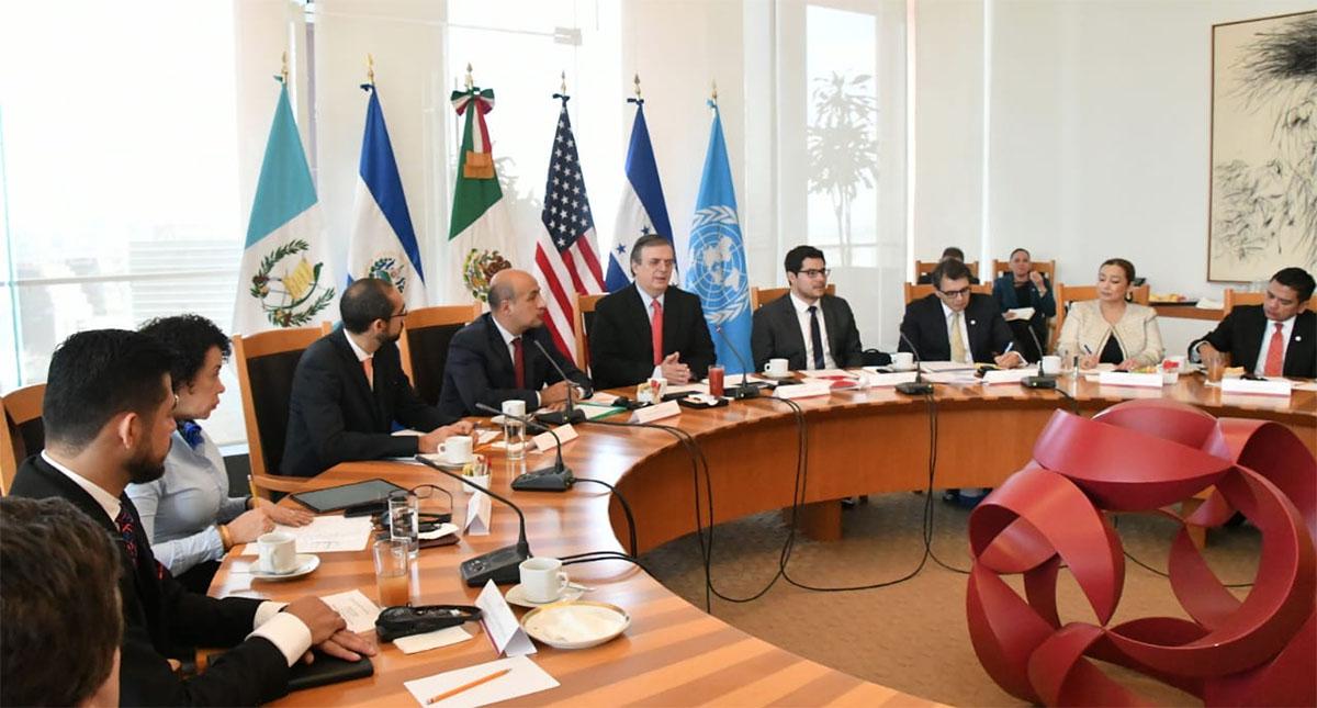 Reunión México-EE.UU.-Centroamérica. Foto de SRE