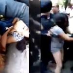 #Video Policías pelean a golpes con mujeres sobre Paseo de la Reforma