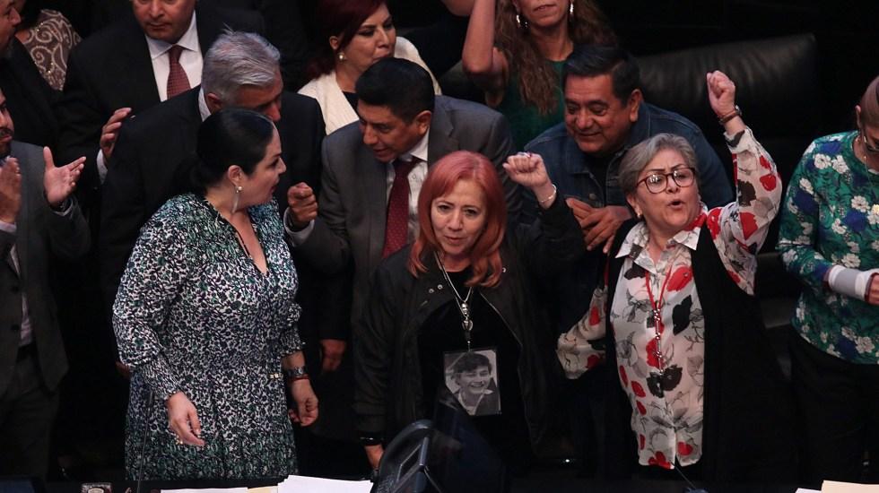 Rosario Piedra presenta licencia a militancia de Morena - Rosario Piedra en su toma de protesta como titular de la CNDH. Foto de EFE / Archivo