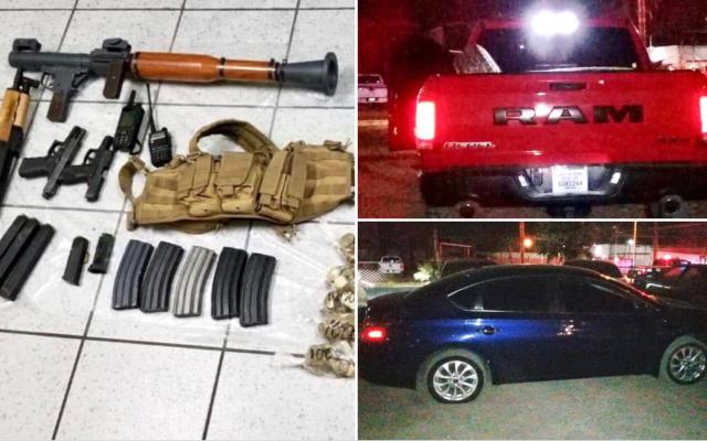 Asesinan a tres hombres en taller de San Luis Río Colorado, Sonora - Los hechos en San Luis Río Colorado. Foto de Fiscalía de Sonora.