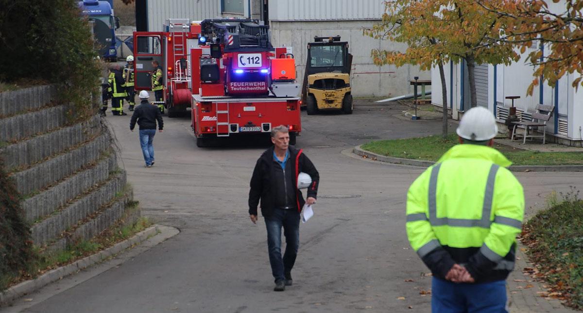 Servicios de emergencia alemanes en labor de rescate de mineros. Foto de MDR Sachsen-Anhalt