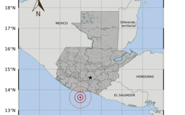 Sismo magnitud 5.3 en Guatemala; fue percibido en Chiapas - Imagen del sismológico de Guatemala