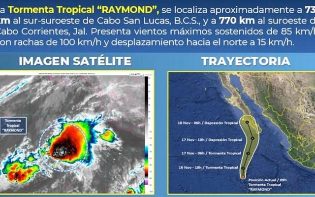 Tormenta tropical Raymond provocará lluvias en Baja California Sur - tormenta tropical raymond