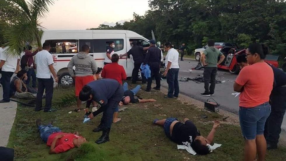 Trabajadores del sindicato Tiburones del Caribe heridos. Foto de Noticaribe