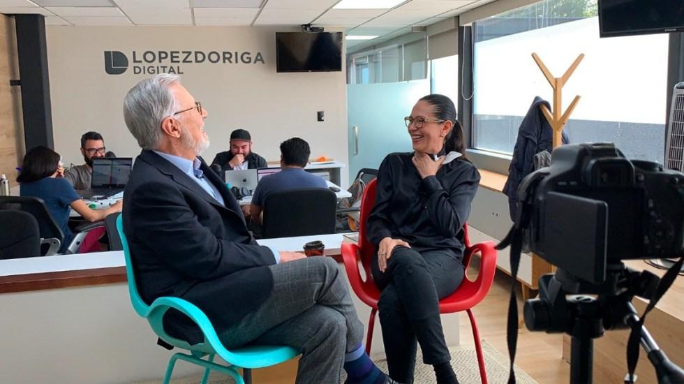Joaquín López-Dóriga entrevista a Yolanda Andrade