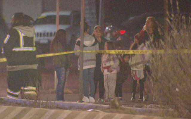 Acusan a mexicano deportado seis veces de atropellar y matar a mujer - El lugar de la muerte de Annette Conquering Bear, el 17 de diciembre. Foto de Denver / cbslocal.com.