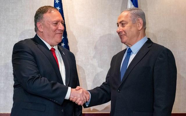 Netanyahu acusa hostilidad de Irán y elogia política de Trump - Benjamin Netanyahu y Mike Pompeo