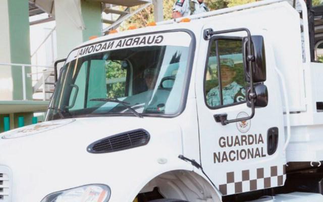 Guardia Nacional decomisa 30 mil litros de diésel en Campeche - Camión de la Guardia Nacional. Foto de @GN_MEXICO_