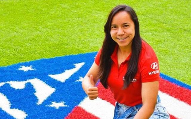 Charlyn Corral obtiene la nacionalidad española - Charlyn Corral a su llegada al Atlético de Madrid Femenino. Foto de @charlyncorral