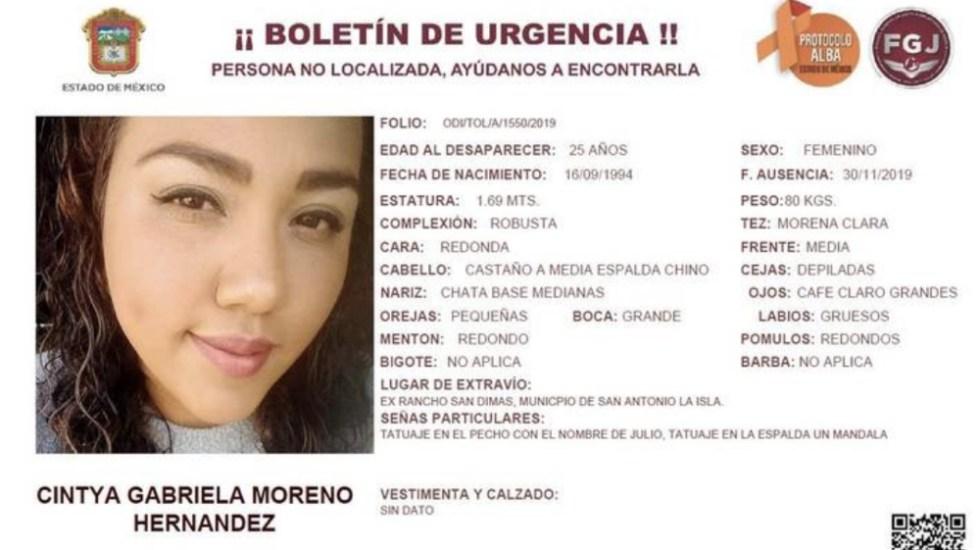Dan último adiós a Cintya Gabriela Moreno - Foto de Fiscalía Edomex