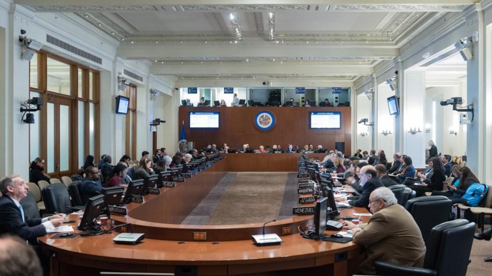 Dos hombres y una mujer pelearán la OEA en una 'América agitada' - Consejo Permanente de la OEA. Foto de @OEA_oficial