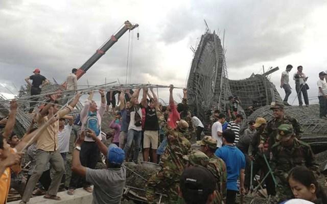 Derrumbe de templo budista en Camboya deja tres muertos - Foto de Khmer Times