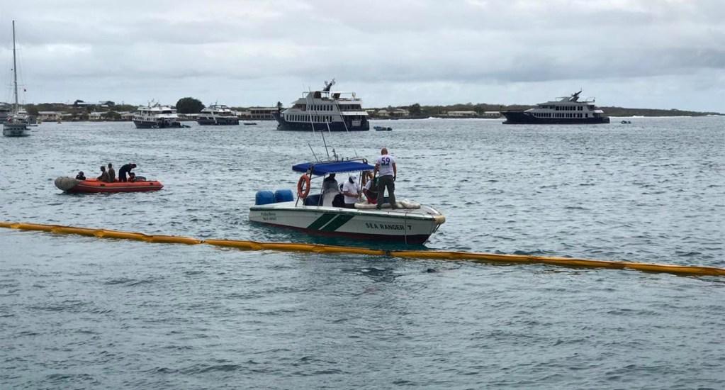 #Video Grúa provoca derrame de miles de litros de diésel en las Islas Galápagos - Grúa provoca derrame de miles de litros de diésel en las Islas Galápagos