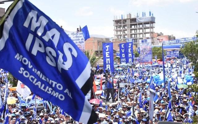 Partido de Evo Morales elegirá en enero a su candidato para Presidencia de Bolivia - Acto multitudinario en Bolivia del MAS, partido político de Evo Morales. Foto de @nacionalmasipsp