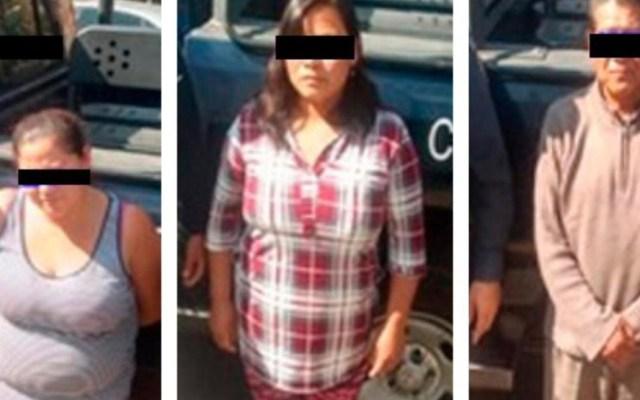 Detienen a dos mujeres y un hombre acusados de extorsión en Tlalpan - Extorsionadores detenidos en Tlalpan