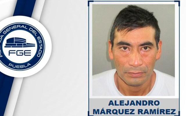Dan 45 años de cárcel en Puebla a sujeto que asesinó a su esposa - Feminicida de su esposa en Puebla. Foto de FGE Puebla