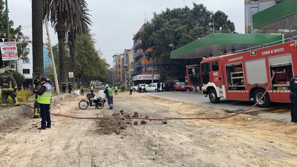 Desalojan a 30 personas por fuga de gas en Narvarte Oriente - Foto de @SGIRPC_CDMX