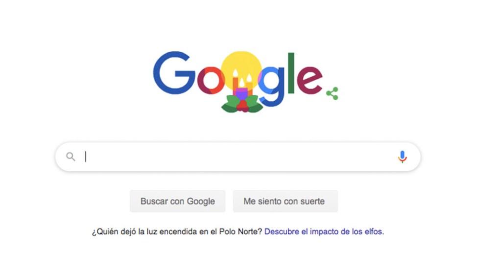 Google desea Felices Fiestas con doodle - Google desea Felices Fiestas con doodle