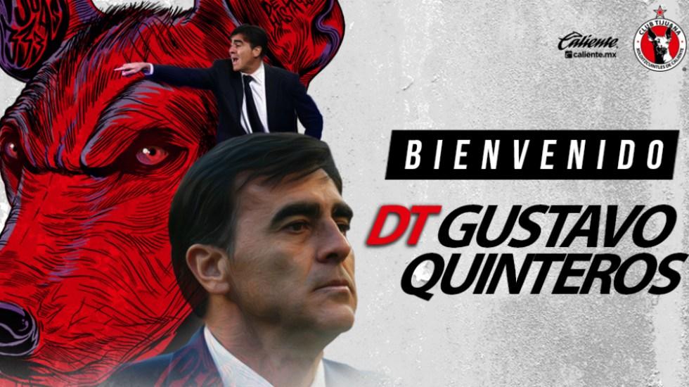 Gustavo Quinteros es nuevo entrenador de Xolos de Tijuana - Foto de Xolos de Tijuana