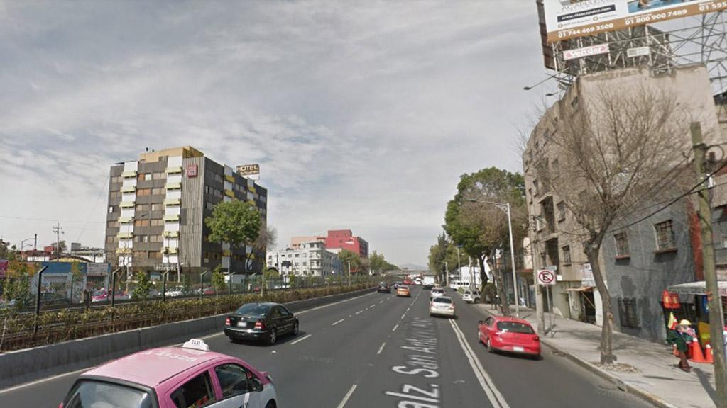 Secuestran a mujer sobre Calzada de Tlalpan y la violan - Hotel sobre Calzada Tlalpan. Foto de Google Maps