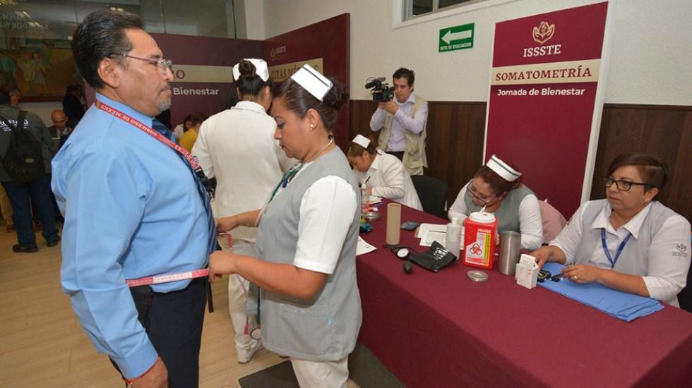 Diabetes y sobrepeso, principales padecimientos de trabajadores del ISSSTE - Jornada de Bienestar 'El ISSSTE Contigo'. Foto de @ISSSTE_mx