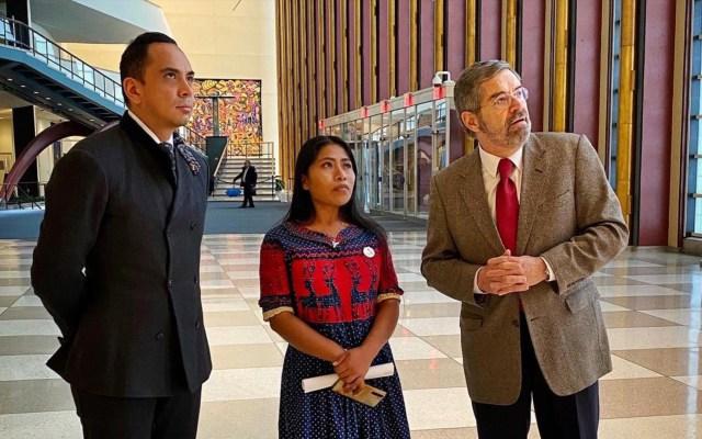 Declaran al período 2022-2032 como la Década Internacional de las Lenguas Indígenas - Juan Ramón de la Fuente y Yalitza Aparicio. Foto de @MexOnu