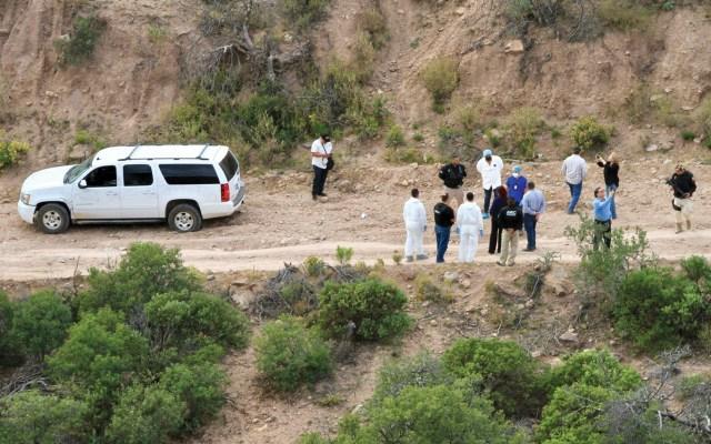 """Julián y Adrián LeBarón rechazan que investigación por asesinato de sus familiares esté """"prácticamente terminada"""" - Sitio de asesinato de nueve miembros de la familia LeBarón en límites de Sonora y Chihuahua. Foto de Notimex"""