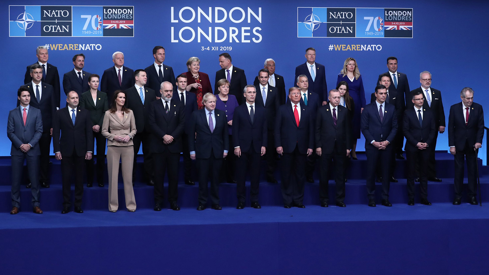 Líderes de la OTAN. Foto de EFE