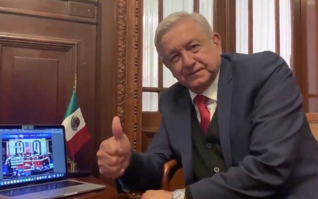 """""""Estamos bien y de buenas"""", dice López Obrador ante aprobación del T-MEC - López Obrador T-MEC aprobación Cámara de Representantes"""