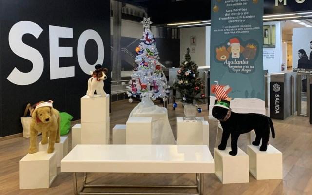 Perros del Metro llevarán cartas de niños a Santa Claus y los Reyes Magos - Metro perros Santa Claus Reyes Magos